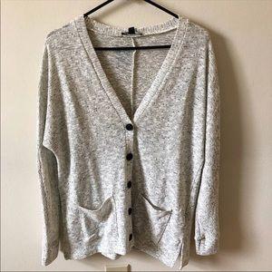 NWOT American Eagle Gray Cardigan Sweater
